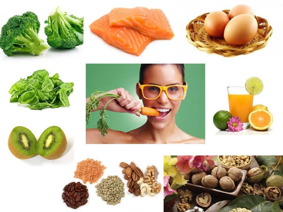 Продукты, богатые витаминами для глаз.