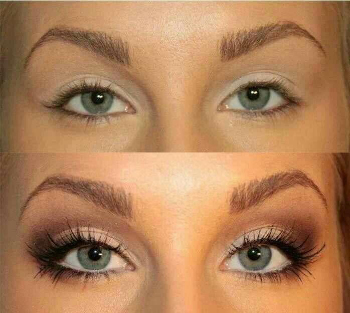 Фото как увеличить глаза при помощи макияжа