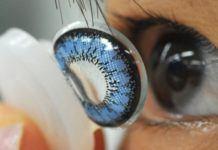 Цветные линзы могут поменять цвет глаз из карего в светло-голубой