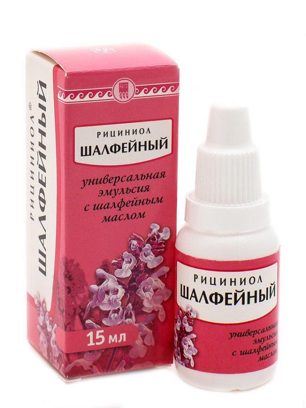 Упаковка с препаратом с добавлением масла шалфея
