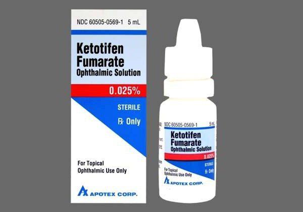кетотифен глазные капли инструкция по применению цена