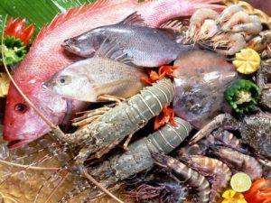 Морепродукты богаты селеном и цинком.