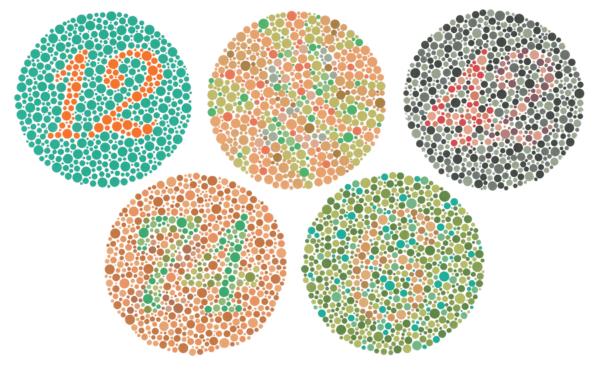 Определение цветовой слепоты с помощью рисунков